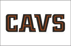 Cleveland Cavaliers Jersey Logo (1998) - CAVS in black and orange split lettering, worn on Cavs home jersey