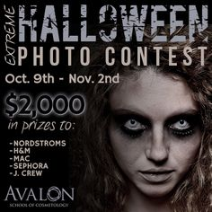 Vote for your chance to win a $100 gift card!  #halloween #avalon #cosmetology #school #makeup #beauty