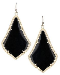 Alexandra Earrings in Black - Kendra Scott Jewelry