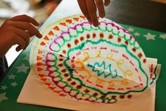 Coffee filter symmetry art for kids...Love this!