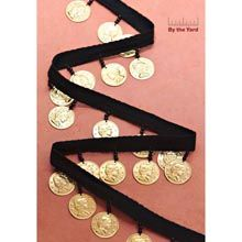 """1-3/8"""" Twill with Gold Coins - Herrschners"""