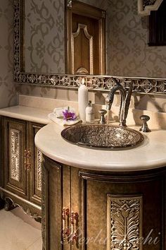 ~ Perla Lichi Designs.  Love the sink, the whole bathroom, for that matter.  ~