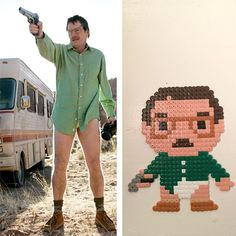 Walter White Breaking Bad perler beads by Julian Ellis