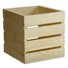Houseworks, Ltd. Unfinished Wood Decor and Storage Square Crate-94612 at The Home Depot $13