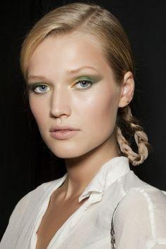 Maquiagem para a copa #hair #eyes #make #cabelo #sombra