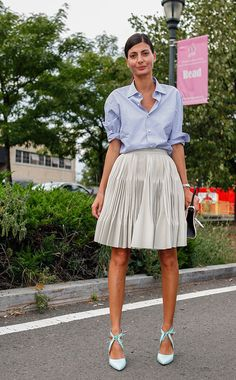 seriously... skirt & shirt and BAM! stunning. Gio in NYC. #GiovannaBattaglia