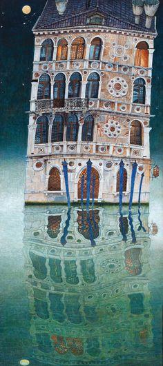 Karl (Strnad) Goldammer https://www.dorotheum.com mixed media on paper on panel, 100 x 45 cm