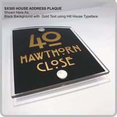 SX305 House Address Plaques Door Numbers Modern Glass Acrylic Address Nameplates Signs