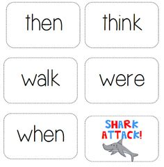 Dolch Sight word game-SHARK ATTACK!