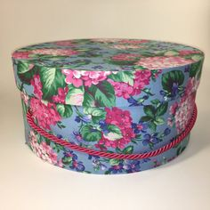 Decorative Round Boxes Large Hat Box In Bright Teal Ready To Ship Round Box Cottage