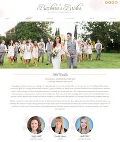 Pretty Website Design for Barbara's Brides — by Doodle Dog Creative. #pretty #blush #website #design #wedding #planner #site. See the rest of the design at www.doodledog.com #doodledogcreative