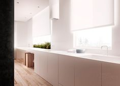 Kitchen:Beautiful Kitchen Design Idea Awesome Kitchen With Circular Range Hood Design Feat Indoor Greenery Garden Idea Plus Large Undermount Sink