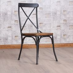 Dining chair American country iron chair Retro Do the old Industrial wind LOFT…