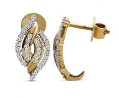 Yellow Gold-Diamond-Ear tops