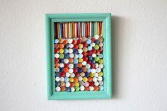 Recycled Golf Tee Art...