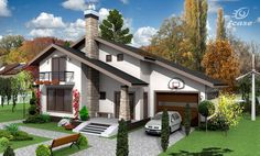 Luxury House Plans, Modern House Plans, Small House Plans, Modern House Design, Exterior House Colors, Exterior Design, Style At Home, Architectural Design House Plans, Architecture Design