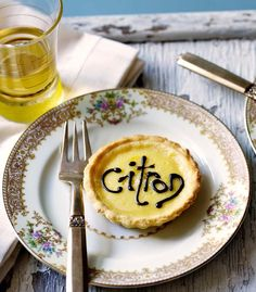 Good things come in small packages - like these delicate little lemon tartlets. Tea, please!
