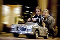 Children love the pedal cars at The Ritz-Carlton, Berlin.