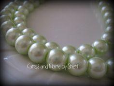 Glass Pearls  Pale Green  80 beads by CardsAndMoreBySheri on Etsy, $7.99