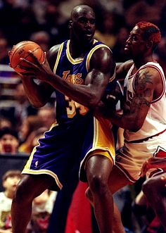 Shaquille O'Neal  Dennis Rodman...remember those times!!!