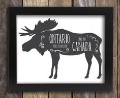 Items similar to Newfoundland Labrador Art Moose Decor - Canadian Moose Art - Antler Hunting Lodge Decor - Atlantic Canada St John's Gander Poster on Etsy