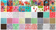 Oilcloth Fat Quarters by oilclothaddict on Etsy, $3.50 for beach pouches.