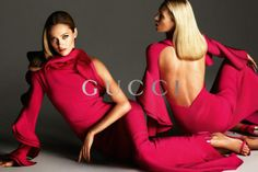 Hot pink Gucci Spring 2013 Fashion Ad Campaigns Photographed by Mert Alas and Marcus Piggott.