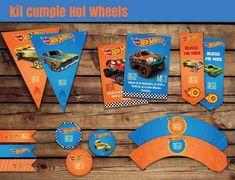 kit imprimible hot wheels + candy bar
