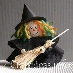 Halloween Craft - Clay Pot Witch - How to Make a Witch's Hat Diy Halloween Food, Halloween Clay, Samhain Halloween, Fall Halloween, Halloween Decorations, Flower Pot People, Clay Pot People, Clay Pot Projects, Clay Pot Crafts