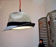 Put some extra style in the favorite corner of your room and let it shine.This hat lamp is not just very elegant but will surely be able to create the desired atmosphere. It's texture lets the light spread through the hat, creating a very smooth lighting for your space. Made from a grey straw hat.