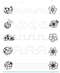 free ladybug trace worksheets | Crafts and Worksheets for Preschool,Toddler and Kindergarten