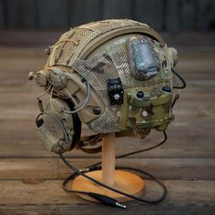 Crye airframe-- looks like mine almost. Tactical Helmet, Tactical Wear, Airsoft Helmet, Tactical Survival, Survival Gear, Paintball, Tactical Equipment, Military Equipment, Plate Carrier