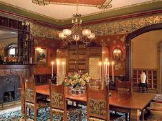Multi-armed chandeliers were the norm in Victorian interiors.