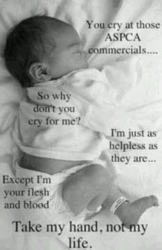!!! [Nobody would take this darling baby's life--it's not a non-viable fetus.  The GOP thinks it's better to let it die after it's born.  They won't do anything to help this baby survive once it's born. it needs a warm place to live, food, clothes, education. It also takes more jobs for parents--not sending them overseas like all Trump's interests.]