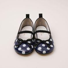 SAYANG - SHOES - Sayan ballet enamel dots (Navy b)