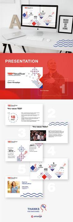 Presentation slide for TEDx Neva River on Behance