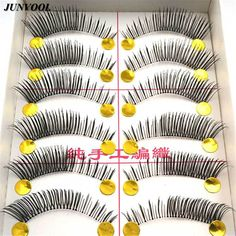 Winged False Eyelashes New Long 10 Pairs Makeup Beauty Fake Eye Lashes Thick Cross Eye Lashes Make Up Extension Cosmetics