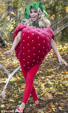 Jenny McCarthy is pick of the patch as a fetching strawberry for early Halloween bash  sc 1 st  Pinterest & 18 best strawberry costumes images on Pinterest | Strawberries ...