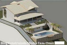 Construindo Minha Casa Clean: Fachadas de Casas em Terrenos em Declive! Como Construir?