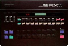 Yamaha RX-11 Drum machine - One of the Electronic Music studios had this beast - nice sound but a bear to program through that damned little window.