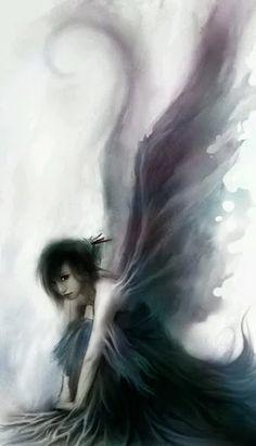 35 New Ideas For Fantasy Art Girl Beauty Dark Angels Dark Angels, Angels And Demons, Fallen Angels, Fairy Dust, Fairy Land, Sad Fairy, Magic Fairy, Love Fairy, Magical Creatures