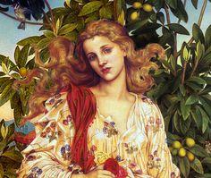 pre raphaelites | art painting pre raphaelite elegant flora goddess wind