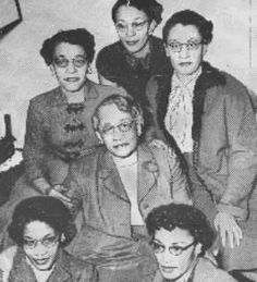 Delta Founder Vashti Turley Murphy (center) 1957 - photographed with five daughters, four in which are members of Delta Sigma Theta.