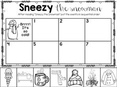 Sneezy the Snowman printable freebie!