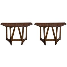 Demi Lune Tables | From a unique collection of antique and modern console tables at https://www.1stdibs.com/furniture/tables/console-tables/