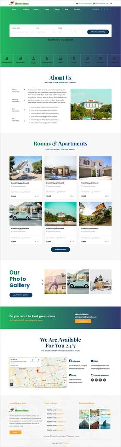 Easy UI - Bootstrap 3 Skin by Jnix Tech on @creativemarket - house for rent template