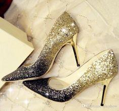 Wedding Shoes Cinderella Crystal Transparent Sandals High Heel 8cm Silver / Gold Prom Shoes Rhinestones Summer Bridal Shoes 2017 #promheelscinderella #promheelsgold