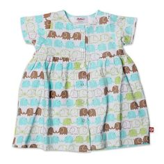 c0b6f0d1d04 Amazon.com  Zutano Baby Girls  Elephants Short Sleeve Dress  Infant And  Toddler Playwear Dresses  Clothing