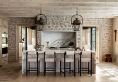 Vestavia Hills — Sean Anderson Kitchen Decor, Kitchen Design, Kitchen Ideas, Kitchen Inspiration, Stone Wall Design, Southern Homes, Interior Photo, Fireplace Surrounds, Custom Home Builders