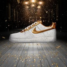 online retailer d87ab 25224 Nike Launches the Team USA Gold Medal Sneakers gold nike shoes Air Force